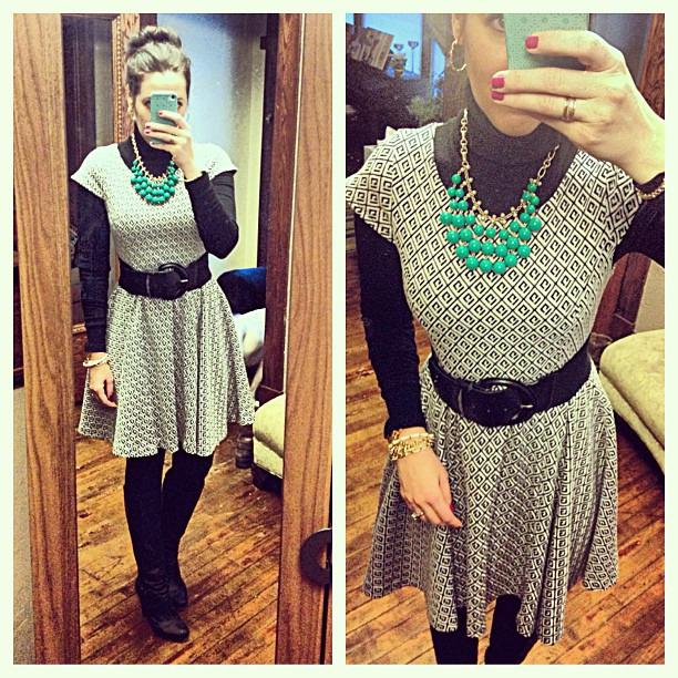 {dress} skater girl #ootd #wiw #personalstyle #selfie #anthropologie #dress #stelladotstyle