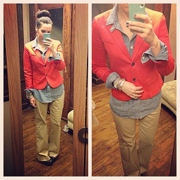 {dress} a little @targetstyle #runninglate #ootd #wiw #personalstyle #redandkhakithursday #yesididiron #targeteer