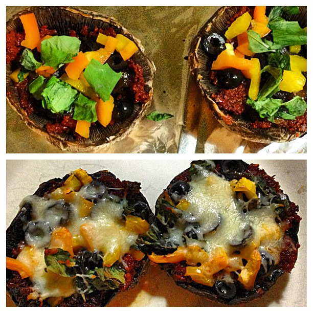 {leftovers} from last nights dinner party - mushroom pizzas adapted from @lacylike #glutenfree #nomnom #comfortfood