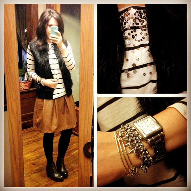 A few of my favorite things #sequins #fur #leather #ootd #wiw #stelladotstyle