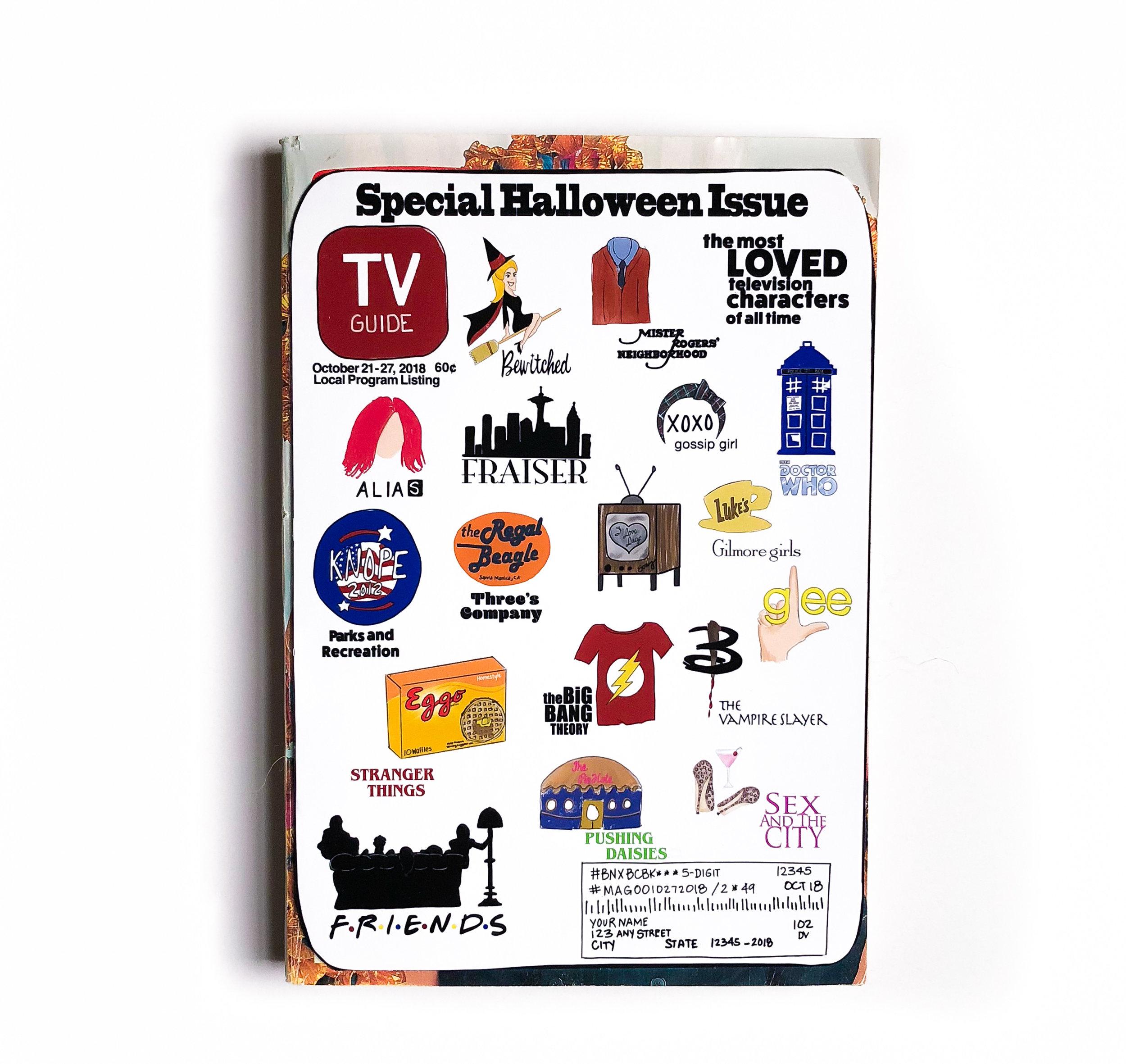 TV Guide Invitation Cover