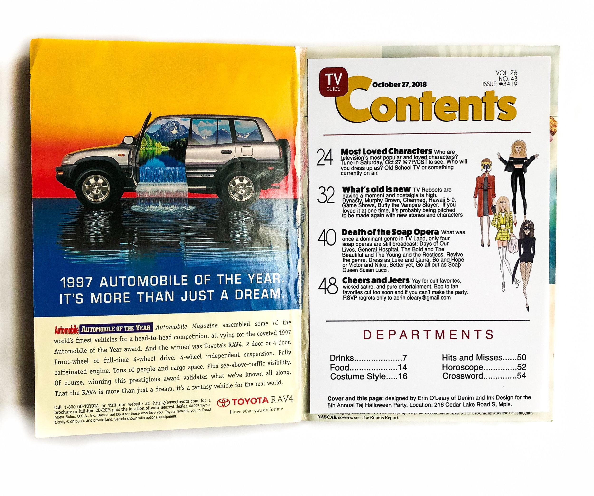 TV Guide Invitation Contents
