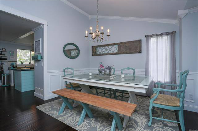 Custom built farmhouse dining table and bench