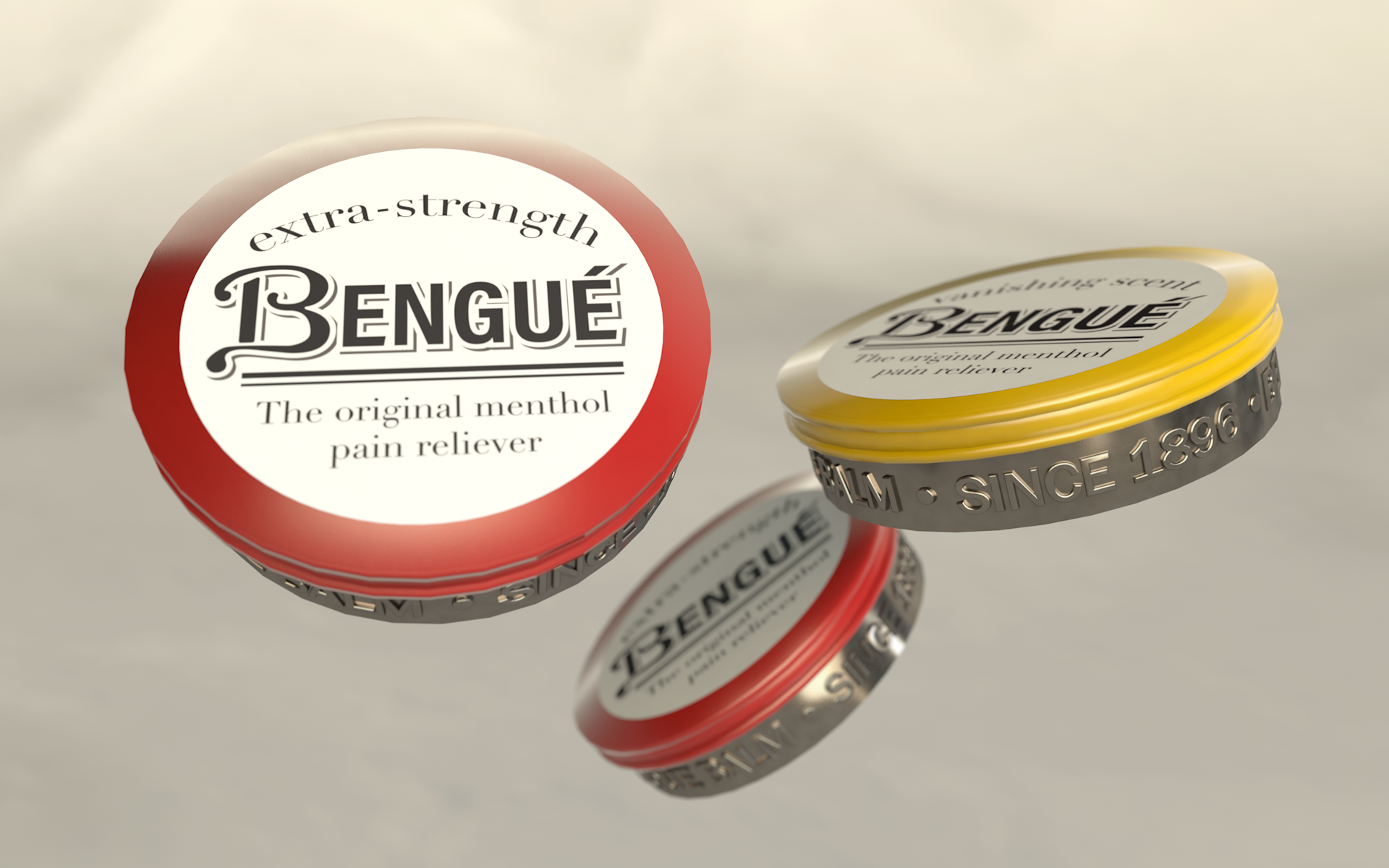 We also created a new balm option that comes in a small, portable tin. Rendering by Zak Vono.