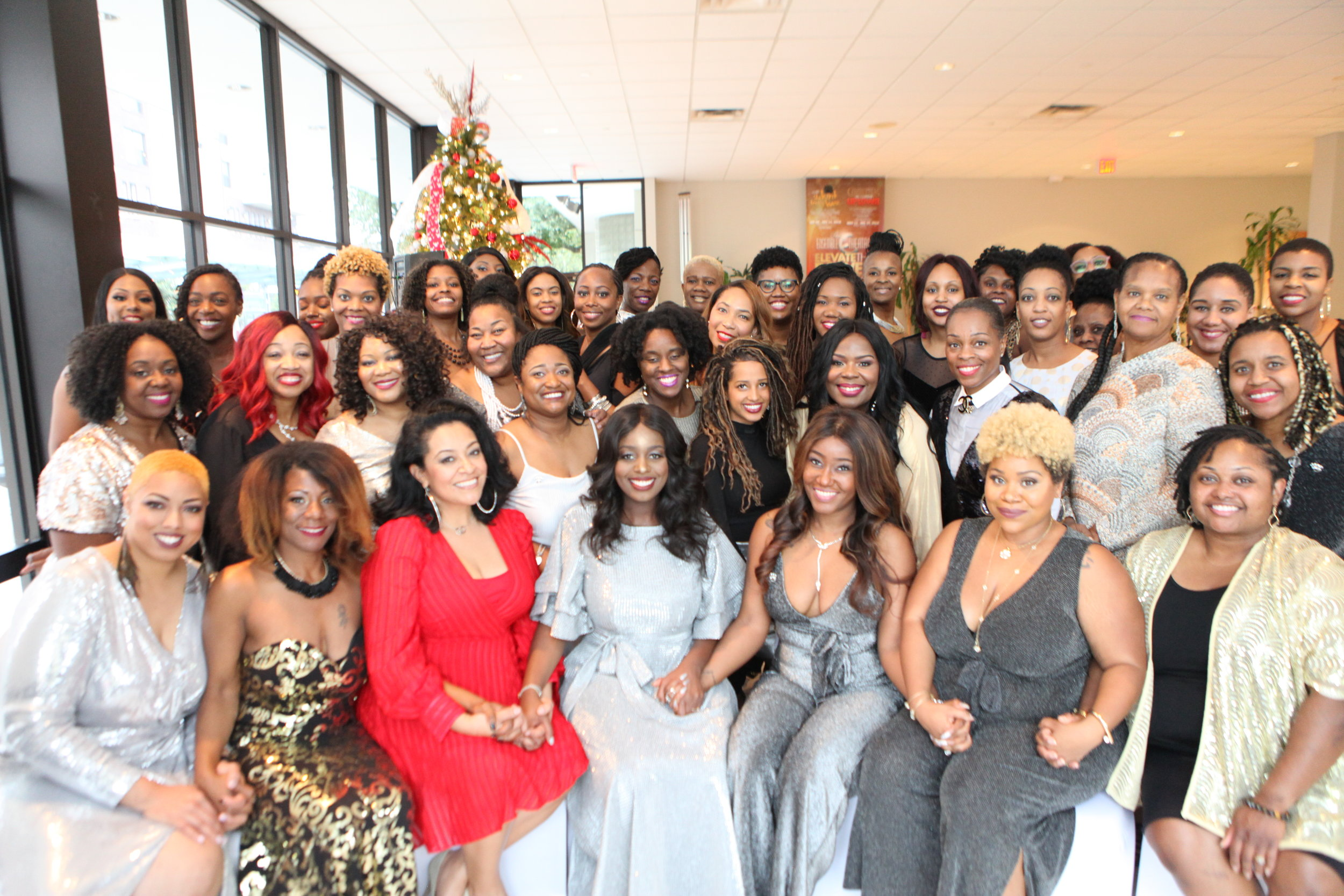 The Woman's Earth Tribe attending the 3rd Annual New Years Eve Brunch in 2018 hosted by our Founder, Jai Pierre Raven.