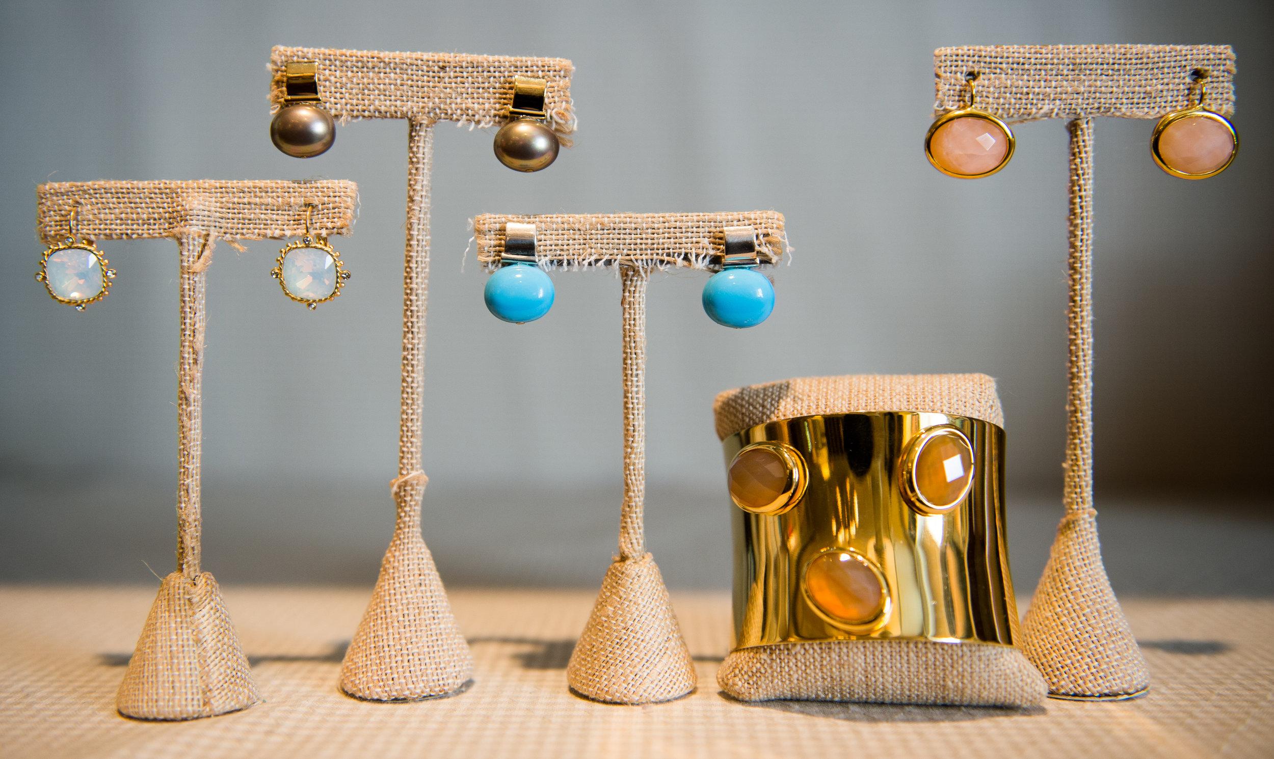 Earrings at gift shop, Atlanta, GA