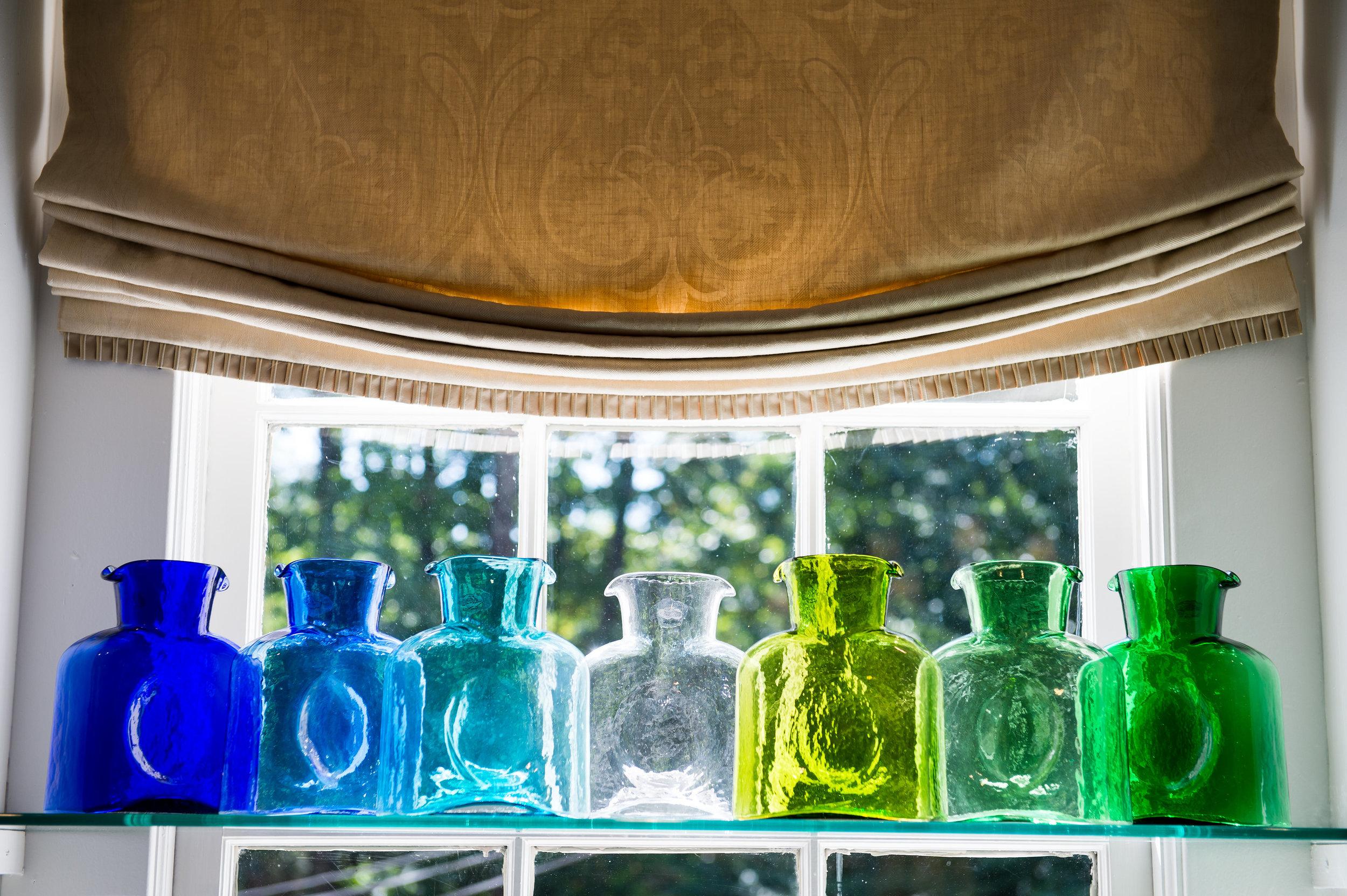 Glass Vases in a gift shop in Atlanta, GA
