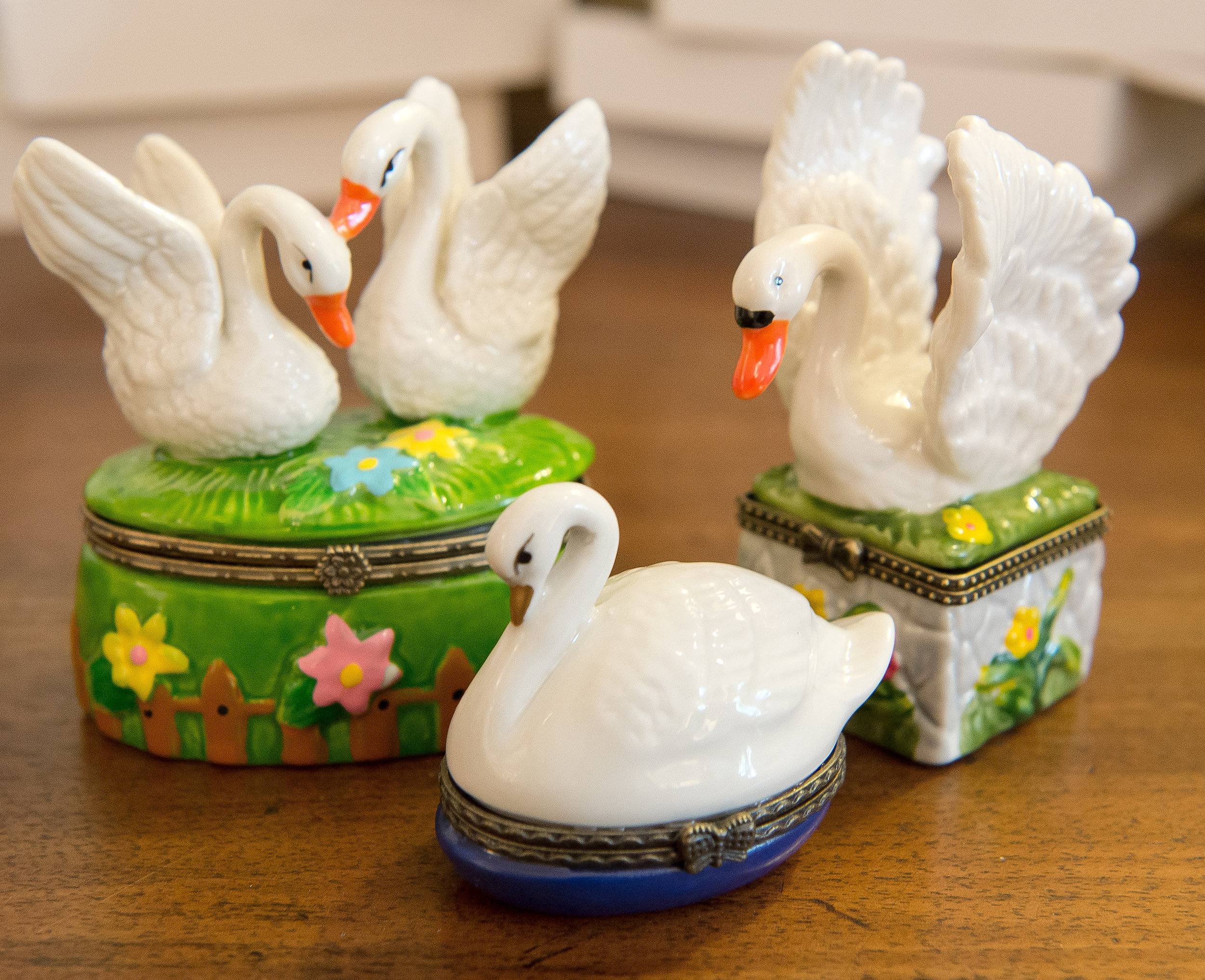 Swan Limoges Boxes