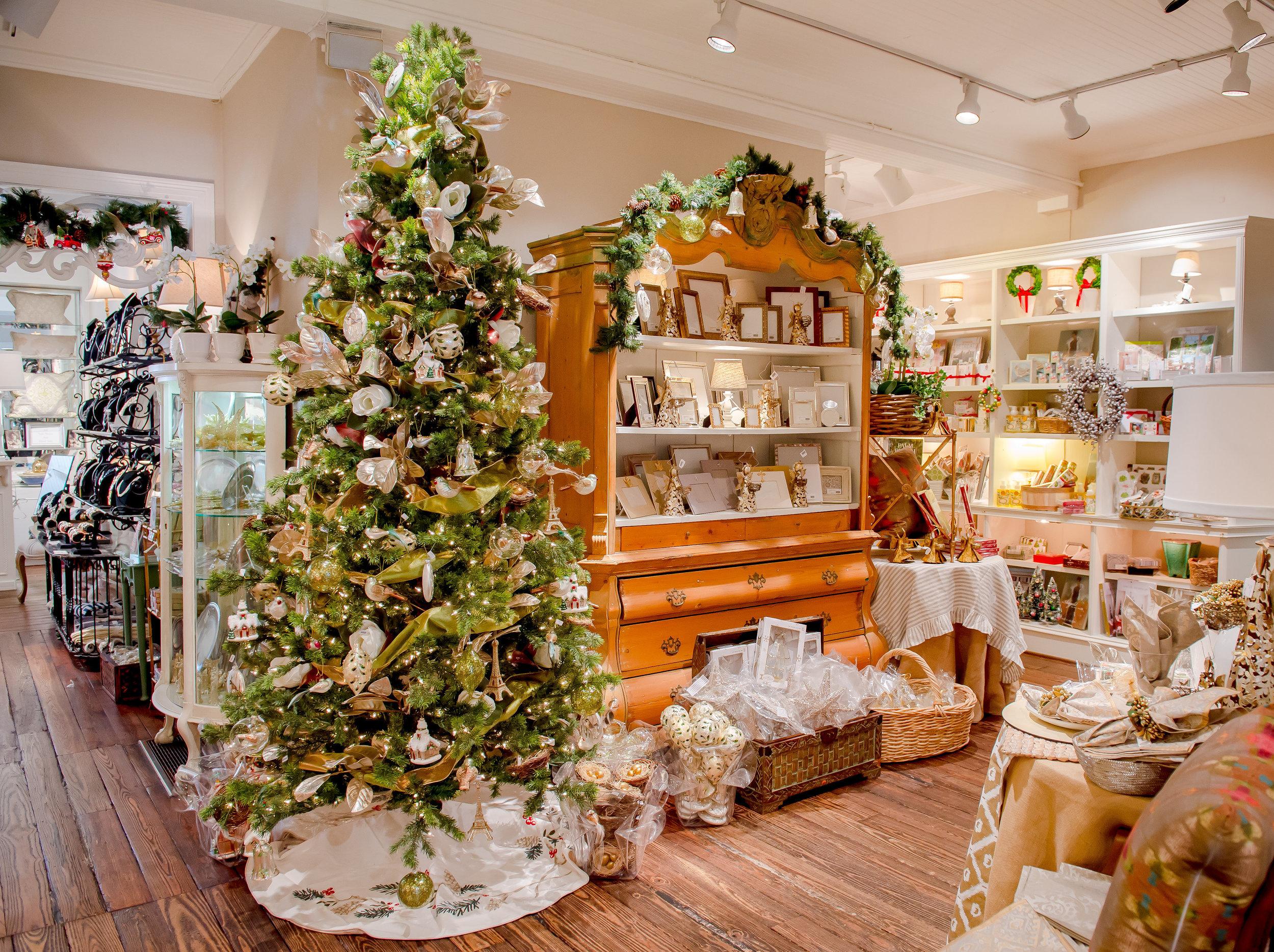 Swan Christmas ornament at gift shop in Atlanta, GA