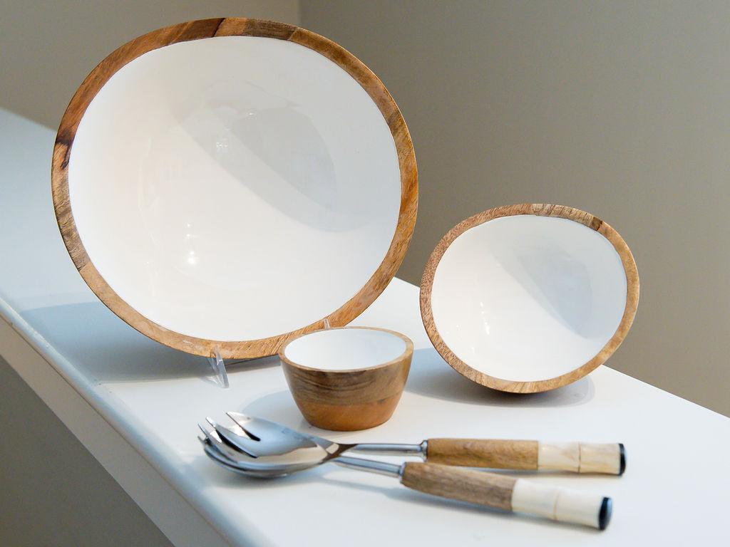 Wooden Bowls at Swan Coach House Gift Shop, Atlanta, GA