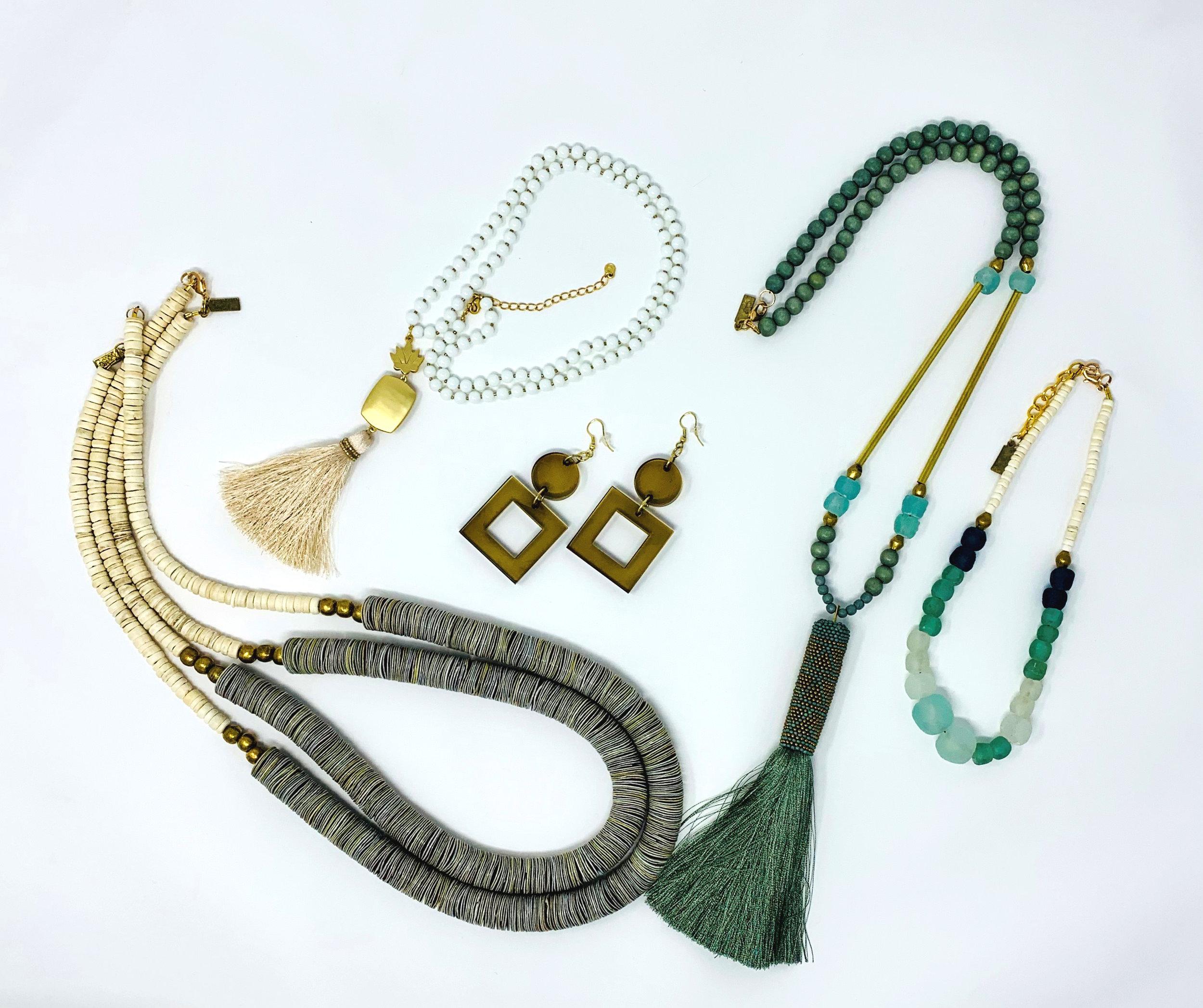 Necklaces at gift shop, Atlanta, GA