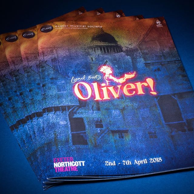 Oliver! Programme ready for delivery to @exeternorthcott for  @exeter_musical_society which starts next week. Design: @halo_creative_design  #exeter #theatre #oliver #musical #print