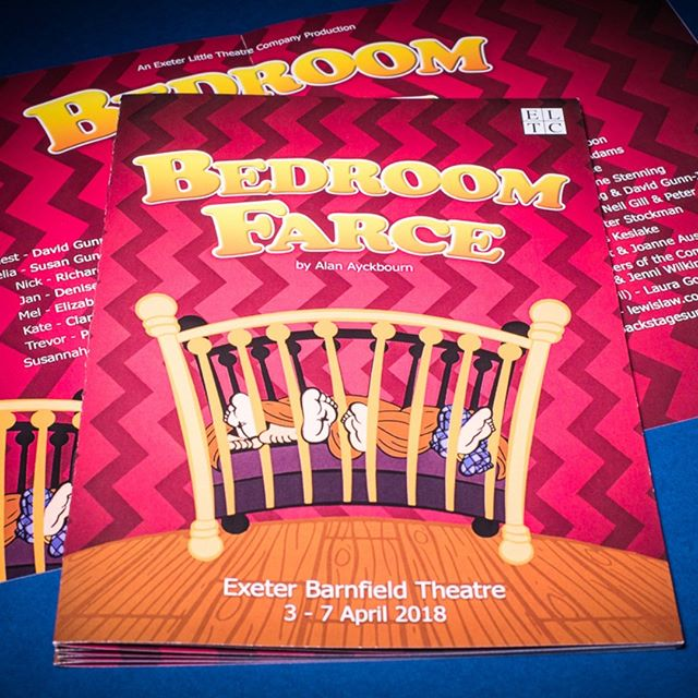 Bedroom Farce #programmes are ready for delivery to @barnfield_theatre for  Exeter Little Theatre Company  #exeter #theatre #play #farce #designandprint