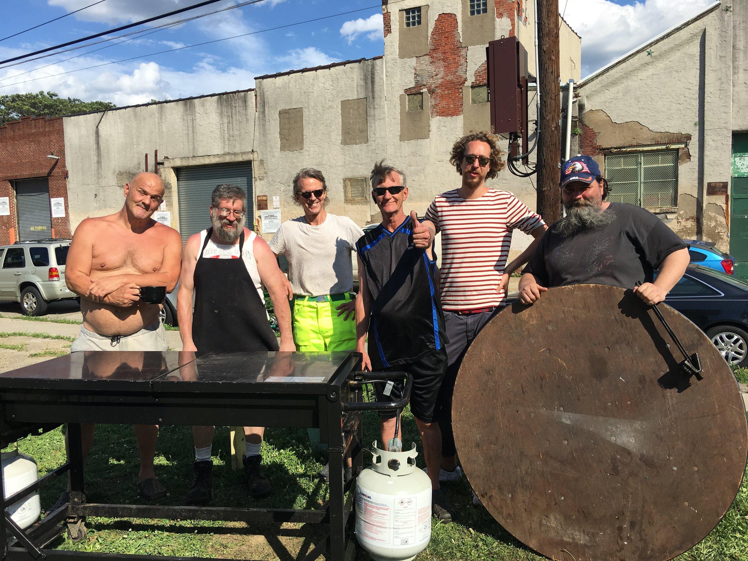 Friends of The Huntingdon Emerald Park enjoying a BBQ