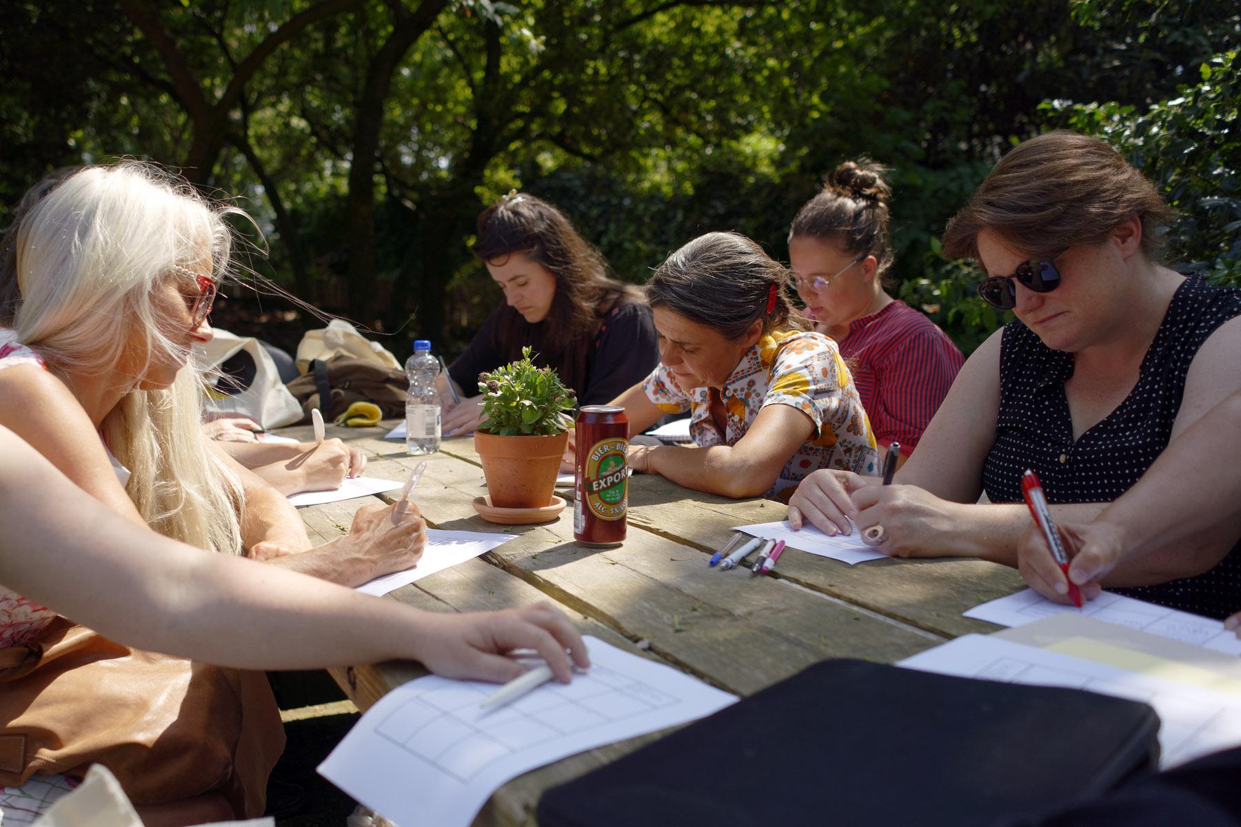 Teaching-artist led workshop, Lisanne