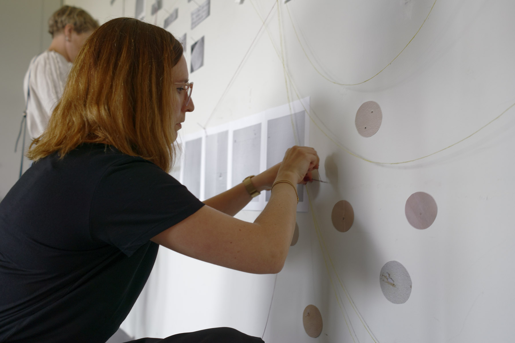 Symposium participants in artist-teacher led workshops