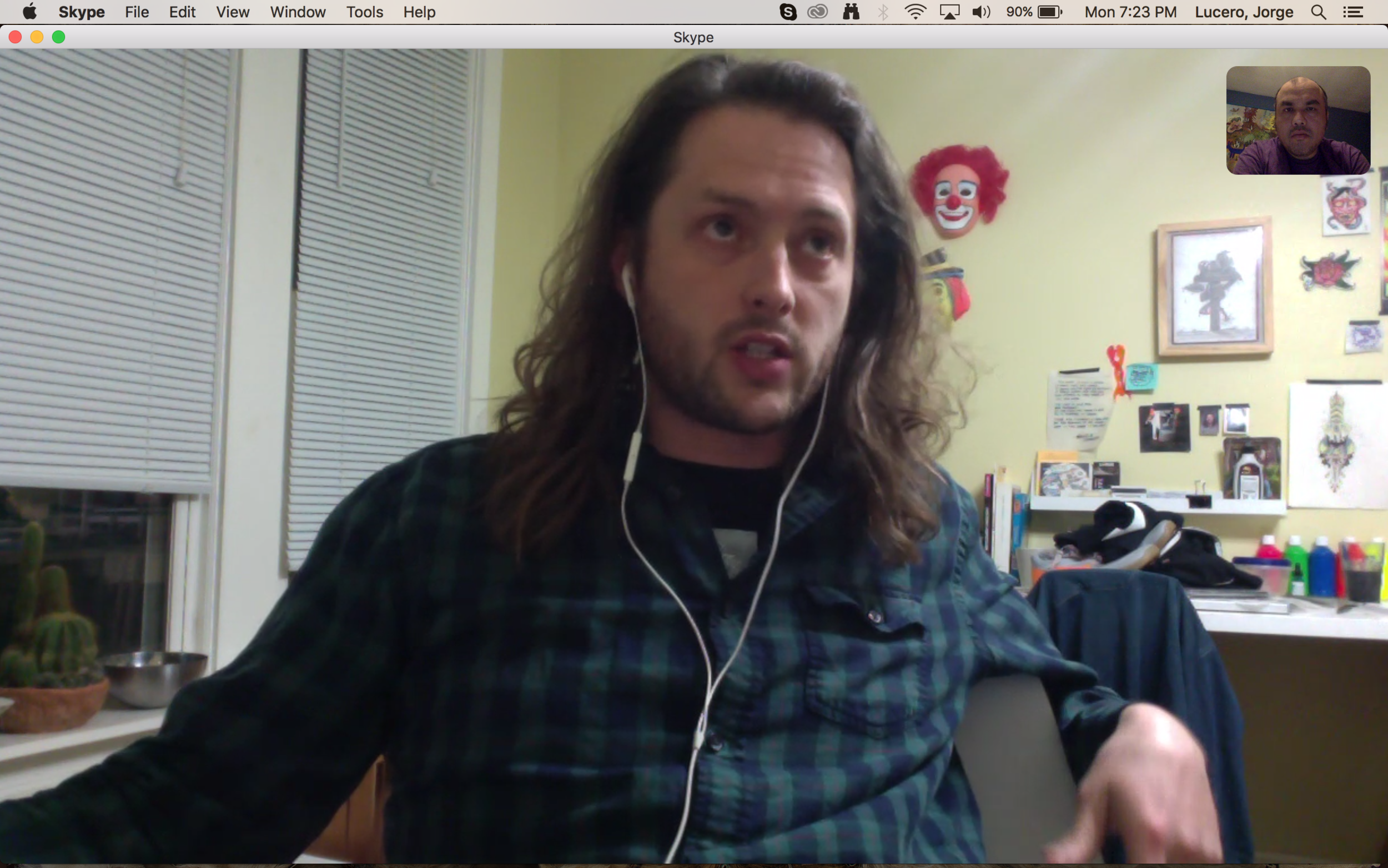 Skyping with Ross (Chicago), who collaborated with Maarten (Amsterdam)
