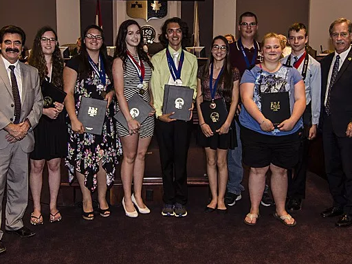 Fort Erie Secondary School Students Honoured In Council - June 22, 2017 - Erie Tribune