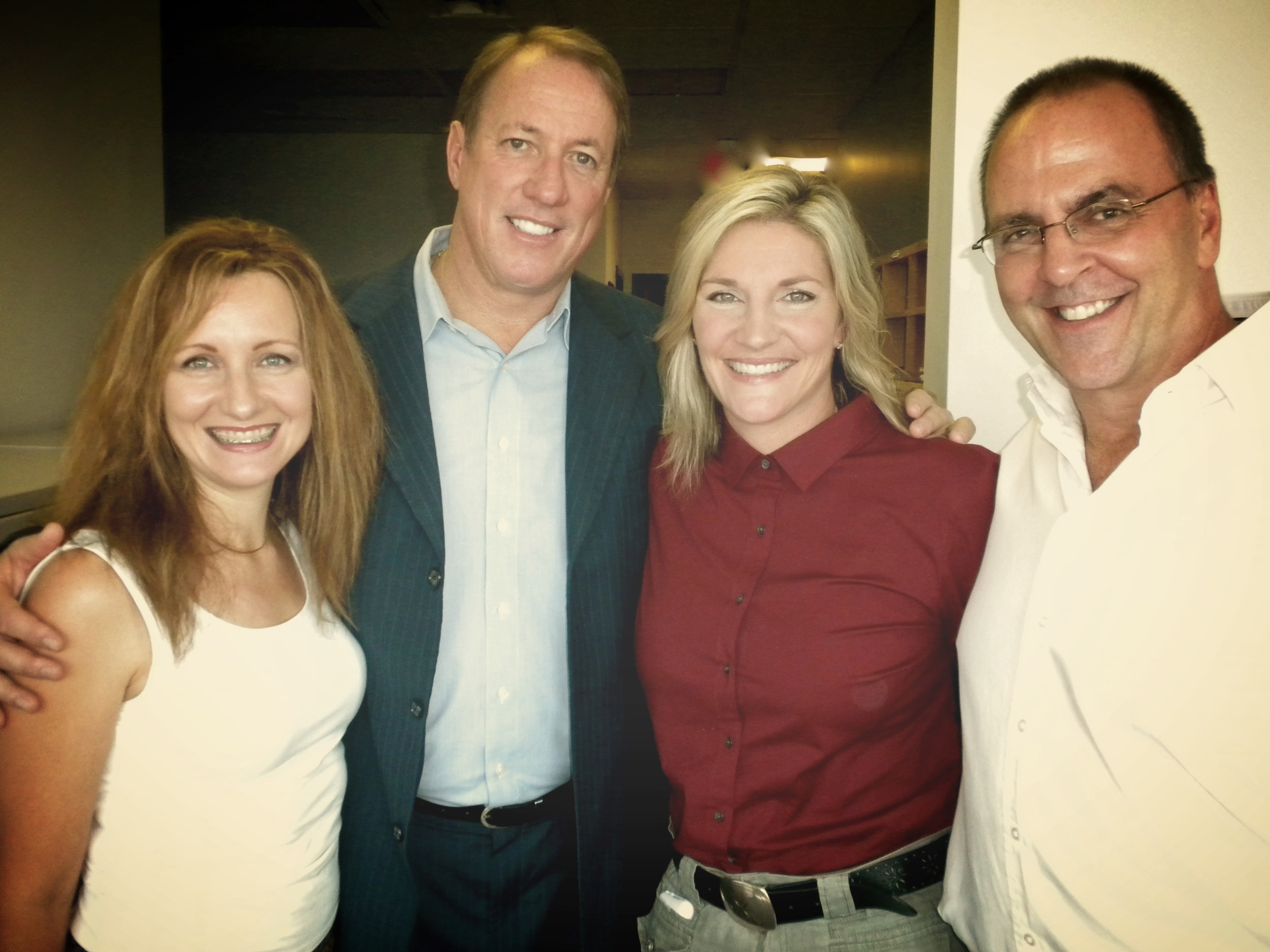 with NFL Hall of Fame-r Jim Kelly & his wife Jill, WORD-fm studios (2010)
