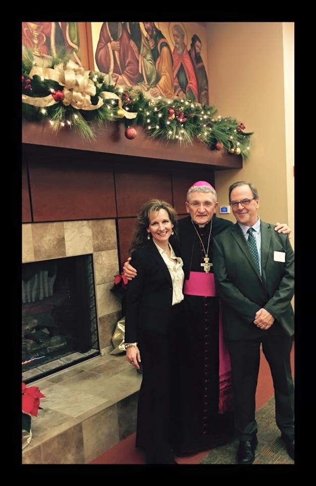 with Bishop David Zubik, at his fab Christmas party (2016)