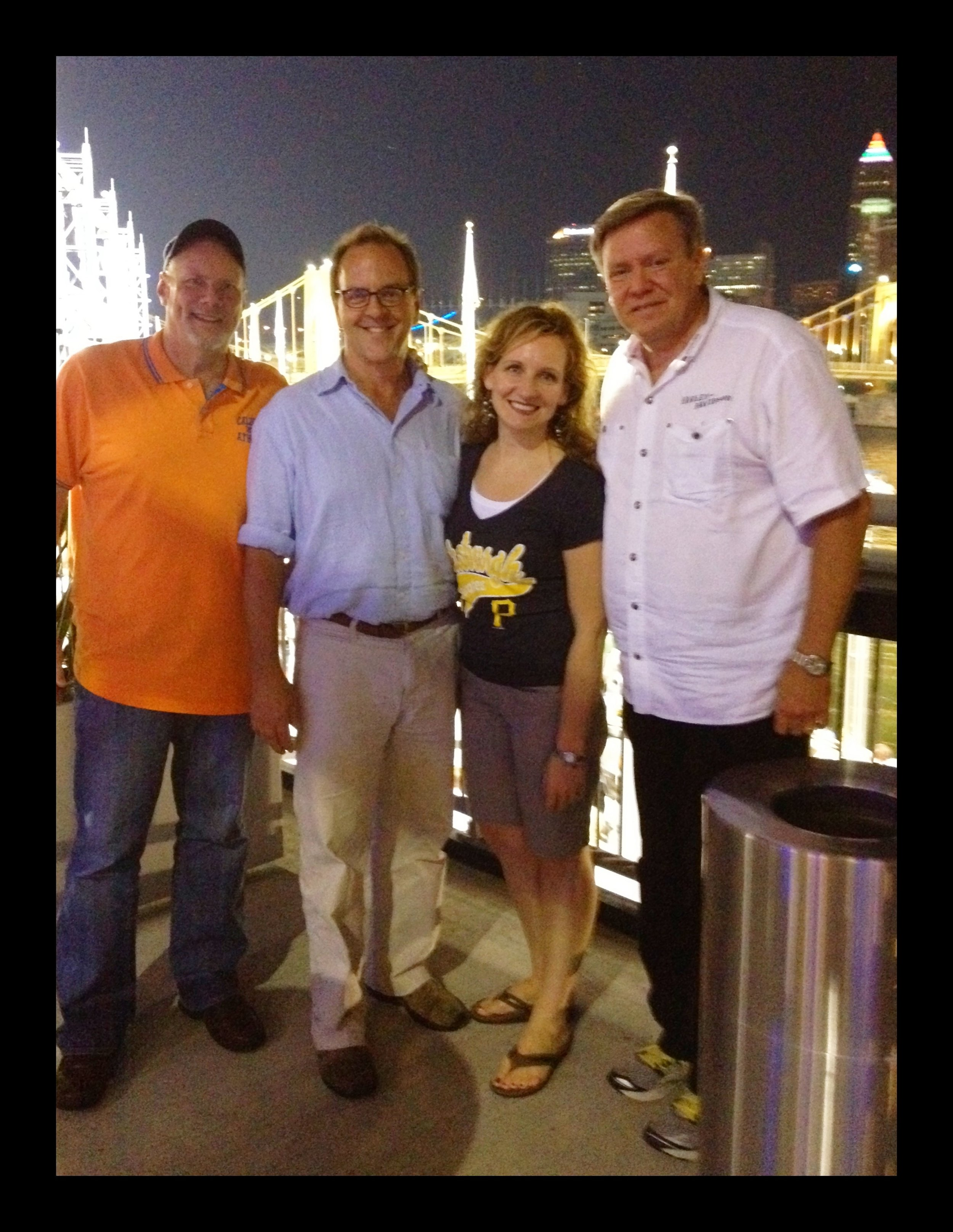 with Jim Vedhuis & Tom Lewis, the Cross International Guys, PNC Park (2012)