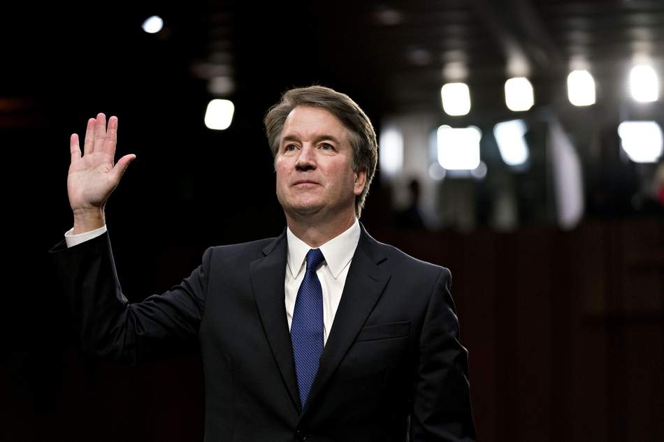 Supreme Court nomiinee Brett Kavanaugh at his Senate Judiciary Committee confirmation hearing earlier this month in Washington. Bloomberg photo by Andrew Harrer.
