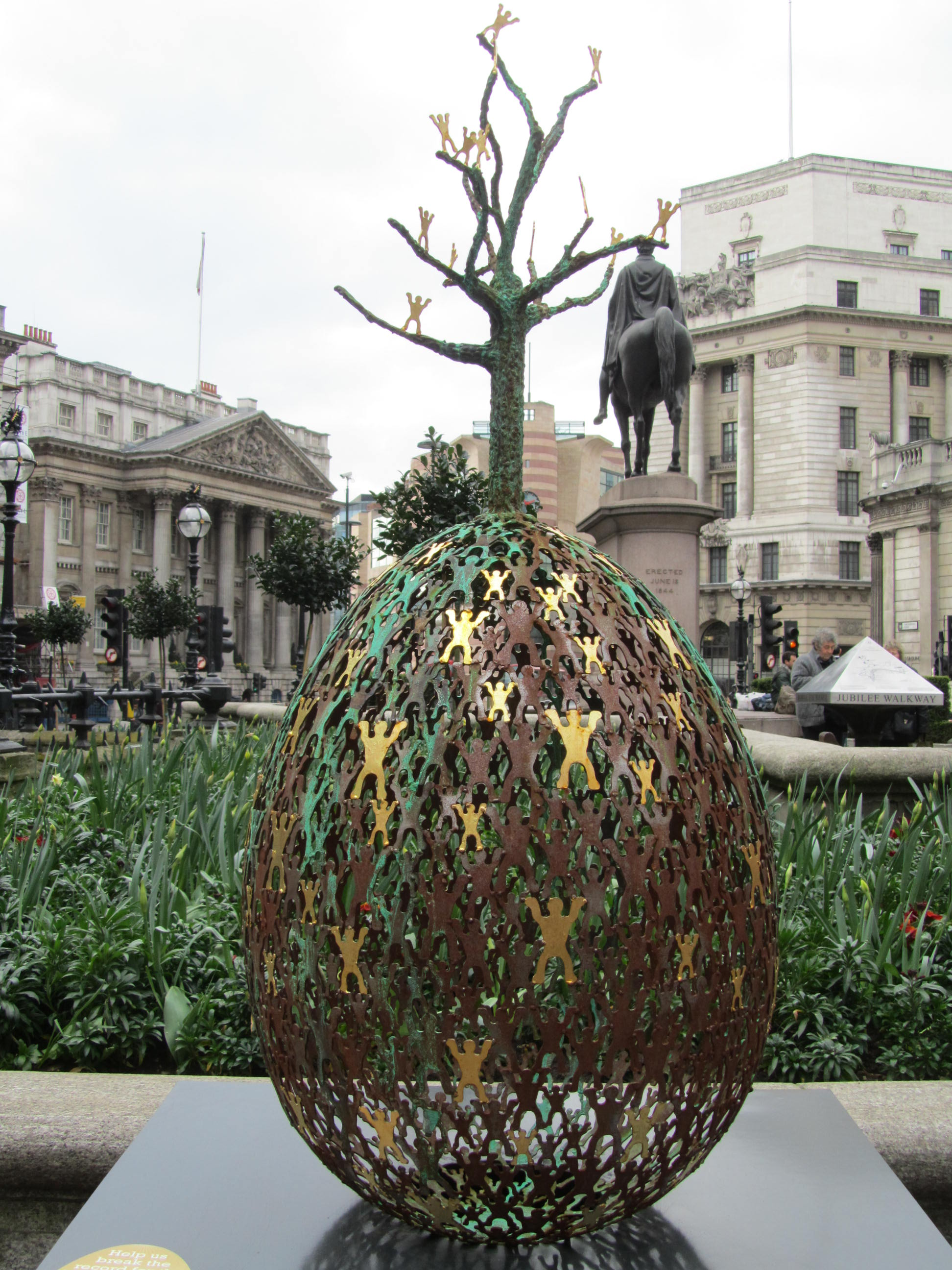 Anima Mundi - Commissioned for The Faberge Big Egg Hunt, Anima Mundi was displayed outside Bank in the City of London.