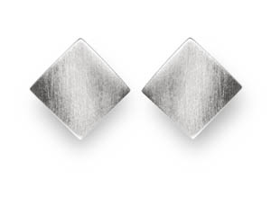 Meri Diamine Shape Convex Stud Earrings