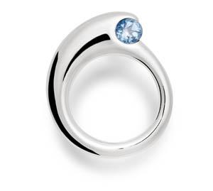 Shane Ice Blue Topaz Ring