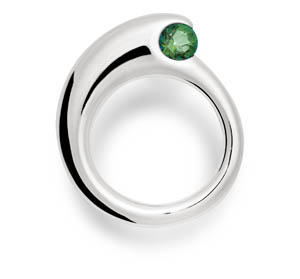 Shane Forest Green Topaz Ring