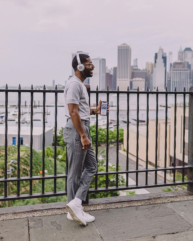 || #Audible || ⠀ #NYC · During the summer I like to enjoy the nice weather by exploring new parts of surrounding neighborhoods. For today's summer activity I checked out the Brooklyn waterfront. I basically get lost + stumble upon local gems. On the weekends I tend to walk 2-3 miles a day exploring and I get a chance to catch up on my latest listen on @Audible learning more about angel investing in tech startups from the book Angel by Jason Calacanis. Make sure to check out #Audible for free for 30 days for yourself (link in bio)! #audible #ad ⠀ -- #wallstreetpaper Ph: @moodsbymark