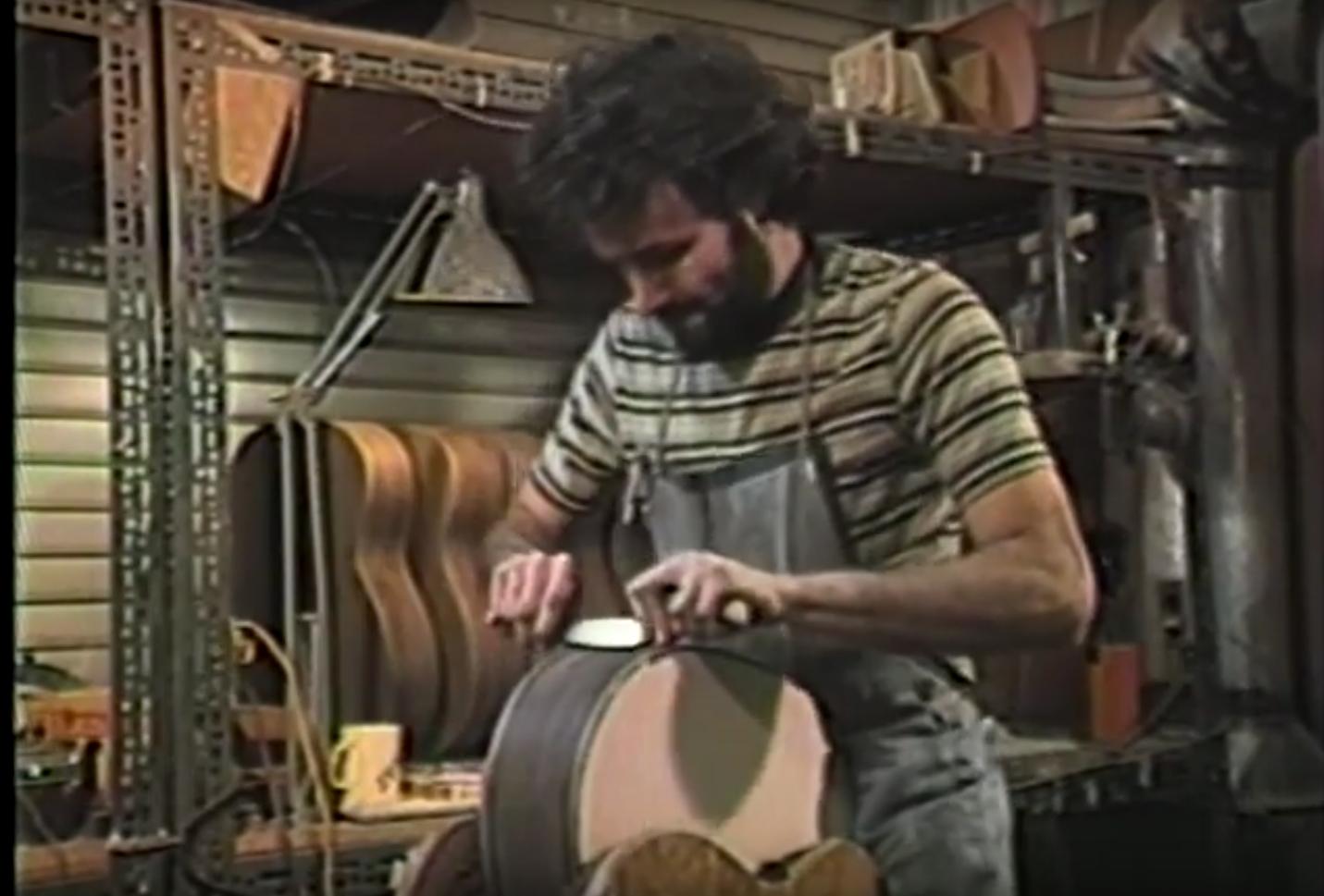 David Iannone circa 1983 apprenticing for Jean Larrivée.