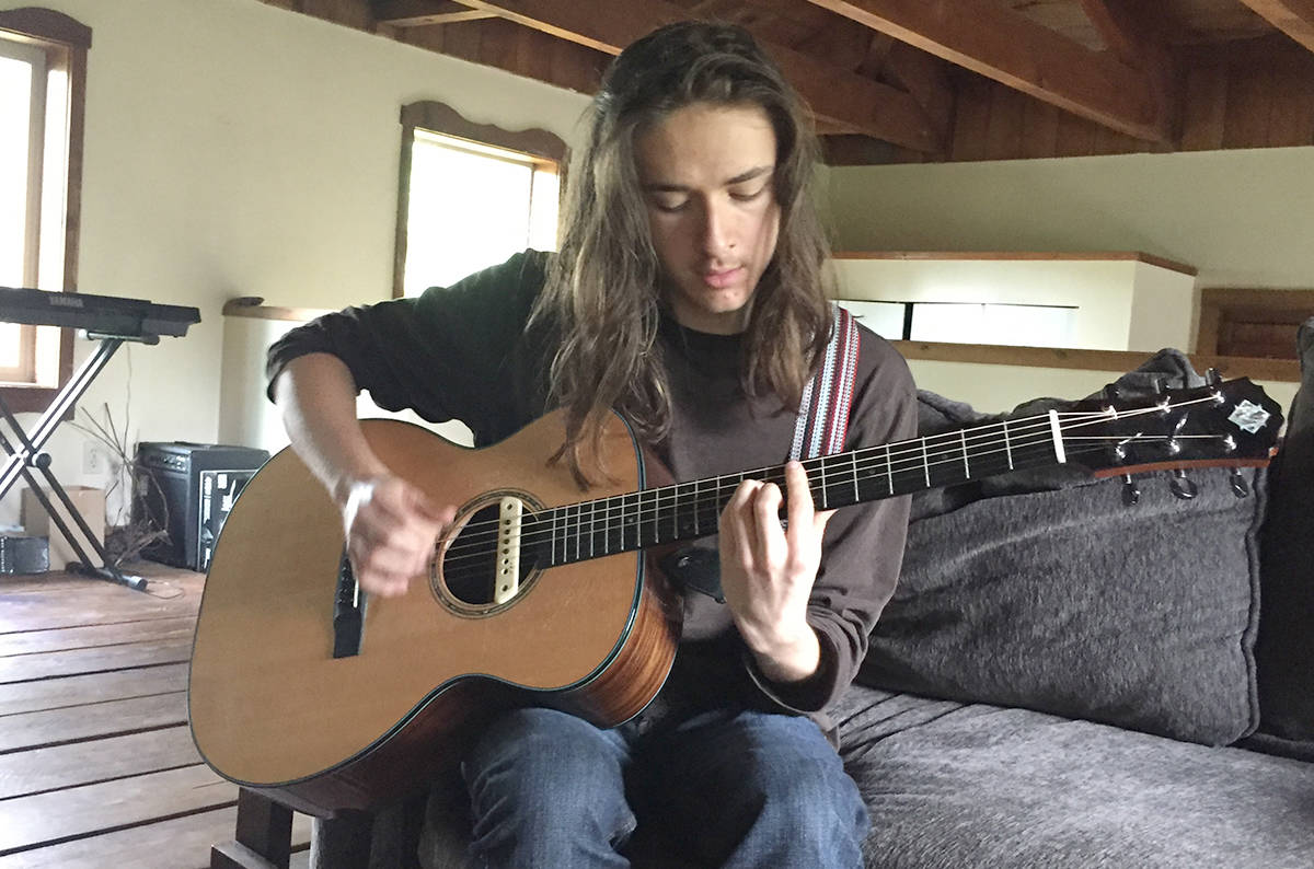 "Farley Mifsud paced the floor at his Vancouver Island home while waiting for the video equipment to be set up, for a special afternoon recording.  ""He likes to pace,"" said his mom, Katrina.  Once the gear was in place, Farley picked up his guitar, sat down, and played his own version of the iconic Mason Williams instrumental,  Classical Gas.   Four minutes later, after an emphatic conclusion to the song, Farley looked up, and smiled.  ""Well done, Farley,"" understated Katrina.  It was a performance one would expect to hear from a musician with decades of experience; not from a 17-year-old with autism.  Farley is one of more than 200 children and youth in the Comox Valley living with a diagnosis of Autism Spectrum Disorder.  ""I started [playing guitar] seven years ago,"" Farley said after his first performance of the day. ""When I first started, AC/DC was the band that I enjoyed listening to, so I just wanted to learn songs by them. When I learned stuff of theirs, it was very exciting.""  Exciting, and unusual.  Farley does not read music.  He learns by ear, and with visual aids.  ""It's a combination of listening, and watching someone else playing,"" he said. ""It's actually easier for me, than reading music.""  He started by surfing the internet and finding instructional videos on sites such as YouTube.  Now he has a multitude of local mentors helping him out.  ""I have three guitar teachers, and they are all very different,"" he said. ""One of them is into jazz, although he teaches me everything. His name is Jeff [Drummond].""  Alan Jossul and Oscar Robles are also teaching Farley.  And he's a quick study. He said it took him three months to learn  Classical Gas.   ""I watched Tommy Emmanuel play  Classical Gas,  and I slowed down the audio so I could hear what he was doing,"" said Farley. ""Some parts I wanted to play exactly like he was doing. Some parts I wanted to do it my own way.""  His story is one of inspiration, and a beacon of hope for all families affected by ASD.  ""It's been life-changing, actually,"" said Katrina. ""As a mother, seeing what music has done for him, in terms of communicating with other people, it's provided a bridge for him in the community. It's not just the musicians, either. It's the people who support music in the Valley – those who come out and watch him, those who have played with him before, it just goes on and on. It's been amazing for both of us. It has changed my life as well.""  Farley said the sound of music is what draws him to it.  ""It's a very powerful sound,"" he said.  That, in itself, makes his story all the more unusual.  Processing sensory information is a common challenge for those with an autism diagnosis. Music, in particular, was an issue for Farley in his younger years; so much so that Katrina, a gifted musician herself, had to put away her own guitar for many years.  ""Farley did not like music when he was little,"" said Katrina. ""He had a lot of sensory challenges, and one of them was noise.""  That created its own challenge for Katrina.  ""Music is my passion. I grew up playing guitar and listening to music. When Farley was young, if I put music on in the house, or if I pulled out my guitar and played, he would cover his ears and scream. It was a source of stress.""  That all changed one day, seven years ago, when Katrina's guitar was out of its case.  ""Farley picked it up, and was holding it, and I saw the way he was strumming it, and he was listening very carefully to the sound. I could see it was affecting him, and I was just praying that he would take to it. I could tell by the way he turned his head, to get closer to the sound coming from the guitar, that he liked it. That was a pretty powerful moment for me. Sure enough, he decided he wanted to learn, and that was it. It's been great ever since.""  Farley has had a lot of help from the Comox Valley arts community in exploring and expanding his love for music.  Drummond introduced Farley to 'Rock Camp,' and Katrina said camps like that one, and in more recent years, the Hornby Island Blues Workshop, have been extremely therapeutic.  ""There was a connection that was happening with Farley and his teachers,"" said Katrina. ""Farley has built really good connections with them, not just musically, but as friends. Seeing those connections happen was one thing, but then, when Farley was 15, I took him to Hornby [for the blues workshop] … they believe music creates community. And that's exactly what happened. It transformed Farley's life. He said it was the best week of his life.  ""The connection that happens with musicians when they work together… it's unique. The connection that happens between musicians can be quite intense. It's unspoken. For somebody who has autism, and experiences that kind of connection with another musician, it's even bigger, because the parts of the brain that light up when that connection happens are key to their development.  ""Farley says we have to go back [to Hornby Island Blues Workshop] every year, for the rest of his life now.""  Farley and Katrina often join Jilli Martini on stage at local venues.  ""How many moms get to do that with their kids? It's such a great feeling to perform with him,"" said Katrina.  Farley and his mom, Katrina Mifsud, play a duet. Photo by Terry Farrell  The Comox Valley Youth Music Centre (CYMC) chose Farley to be the recipient of its $5,000 Morgan guitar in 2016. (Every year the CYMC loans a Morgan guitar to an aspiring musician. The guitar was originally donated to the group by former Comox Valley resident John Shimeld.) When that loan of the Morgan was due, another professional stepped up to help Farley.  ""I loved this guitar so much, I didn't want to give it away. It was the best guitar I'd ever heard in my whole life,"" said Farley. ""But I knew I had to give it back, so I decided to save up to by another Morgan.""  ""I got lucky – twice. First of all, I got to keep the Morgan guitar for more than a year – almost two years. But then I also got to meet the guy who makes Morgan guitars, David Iannone. I got to meet him, and he told me how he makes these guitars, and then he let me have one for a very good price. I did not expect that. It was unbelievable.""  ""Ever since Farley got that first one, he knew he wanted his own, so he started saving every penny he got – birthday money, everything,"" said Katrina. ""I knew it was going to take a long time to save that kind of money, and I didn't want him to get discouraged, so I thought it would be a good idea to maybe go [to Vancouver], pick out a guitar and maybe put a deposit down. David was just so wonderful. He gave us a really good deal.""  Farley has started learning the piano as well.  ""I started piano because I was trying to learn a piano song on guitar, but then changed my mind and have decided to learn it on the piano,"" he said.  ""It's not an easy piece he is learning,"" added Katrina. It's a Rachmaninoff [Concerto No. 2 in C Minor].""  Farley hopes to someday make a living playing music.  ""Yeah. That would be great,"" he said.  See the full article with videos of Farley playing his Morgan  here."