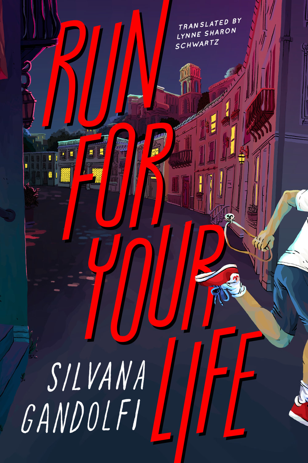 Run For Your Life , Silvana Gandolfi  For Restless Books. Illustration by Aimee Fleck, lettering by Aimee Fleck.