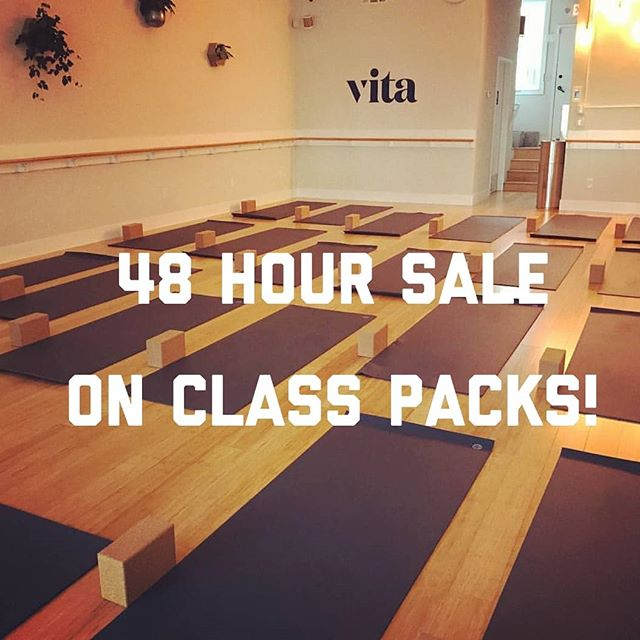 Class packs are ON SALE! Scoop them up at vitaoakland.com, and grab some of our $10 classes while you're at it. Check out the schedule for some black light yoga, 🍕 parties and 🍾 and 🎂. Happy birthday to us!