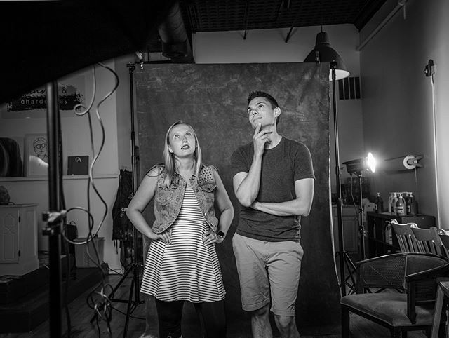 Michelle + Joel / 2018  A BTS from our Pop Up Studio! These two are always so much fun to have in front of my camera. This was our third session together after their engagement and wedding . . .  Moving to a new city has been incredible. So many opportunities and potential, but it's hard leaving such amazing clients.  Cheers to good times, wonderful people and finding all the same joys in new lands.
