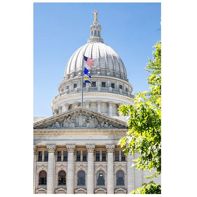 "For the first time ever, Wisconsin is flying the rainbow pride flag over its Capitol building.  Gov. Tony Evers issued an executive order stating that the pride flag will be flown over the State Capitol Building for the rest of June, coinciding with Pride month world-wide. ""Publicly displaying the Rainbow Pride Flag sends a clear and unequivocal message that Wisconsin is a welcoming and inclusive place where everyone can live without fear of persecution, judgment, or discrimination,"" Evers said in the order. ——— Read the rest here:  https://www.google.com/amp/s/amp.cnn.com/cnn/2019/06/07/us/wisconsin-pride-flag-trnd/index.html"