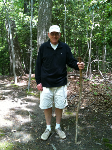Bill as John Muir, complete with walking stick