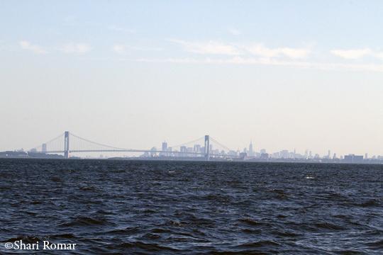 Manhattan skyline from Raritan Bay