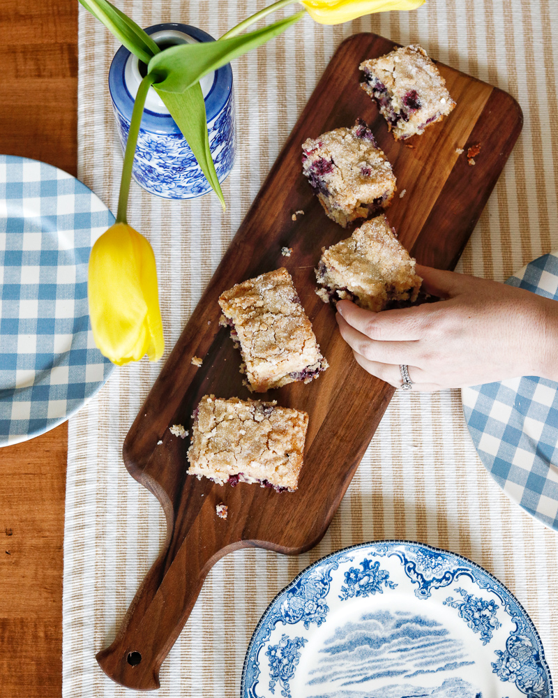 Glens Falls Living Recipe - Blueberry Crumb Cake
