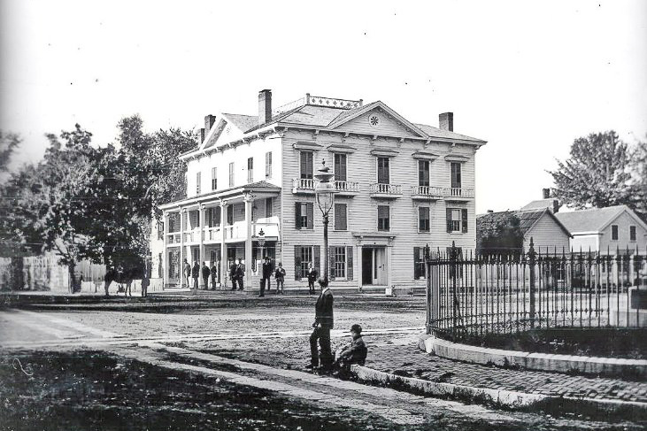 The American House c. 1875. Photo courtesy of    The Chapman Museum   .