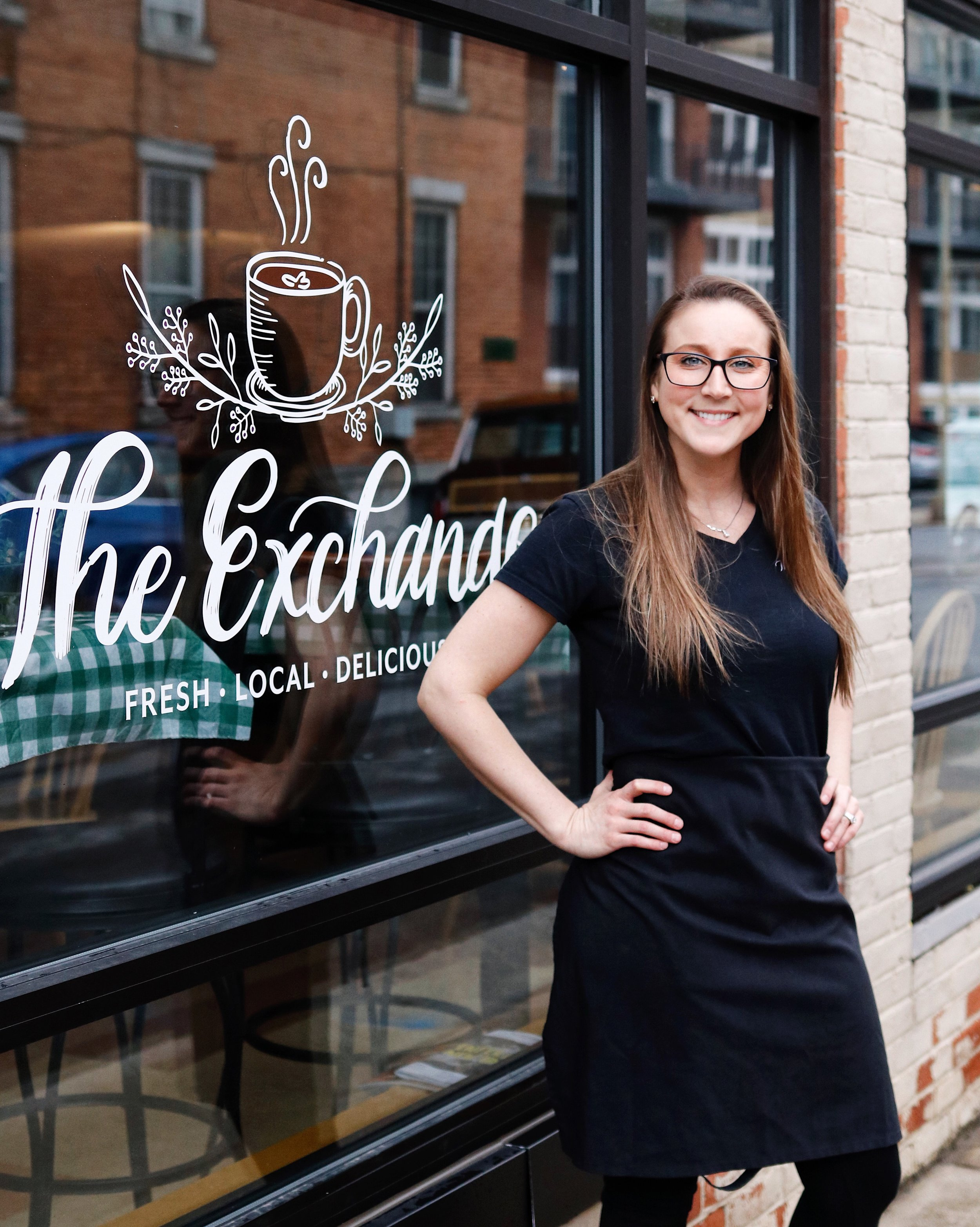 Sara Patten outside    The Exchange Cafe