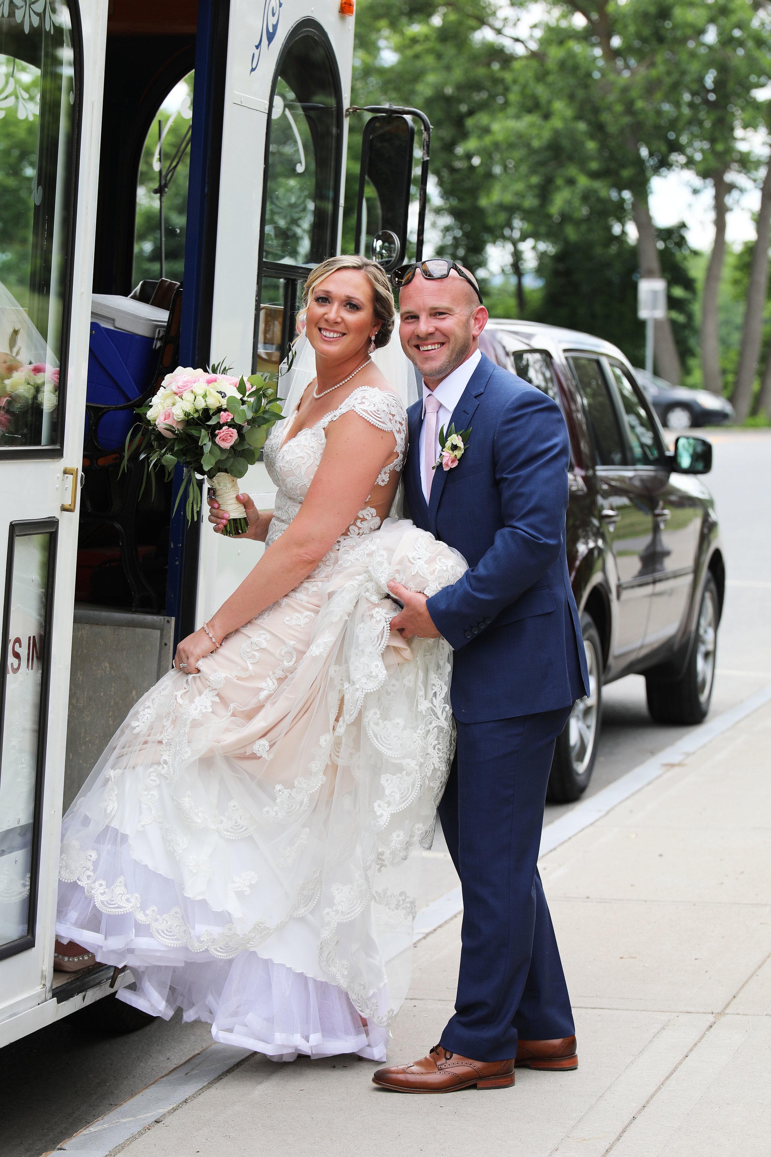 Glens Falls NY Wedding Trolley