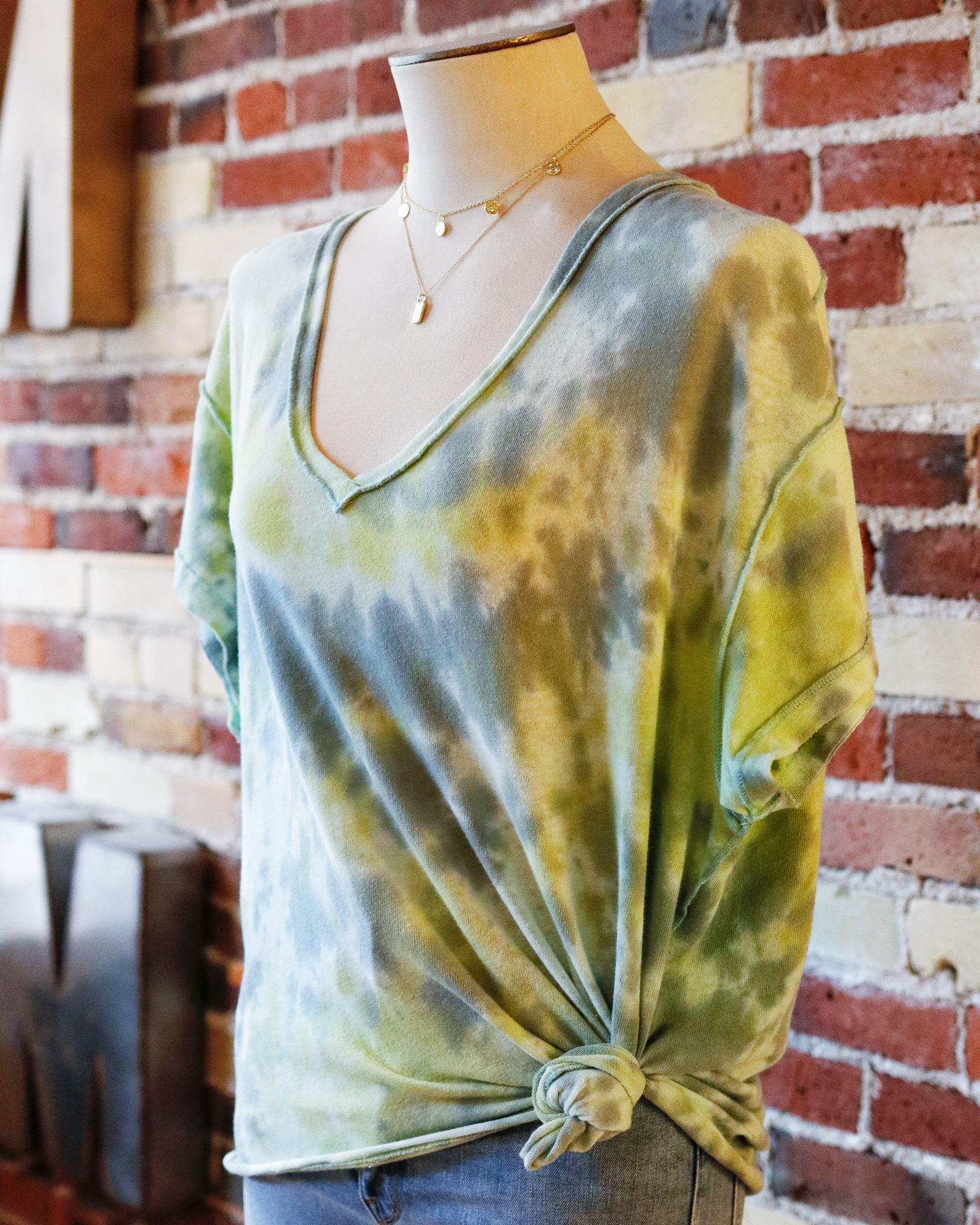 Tie-Dye + Layered Necklaces