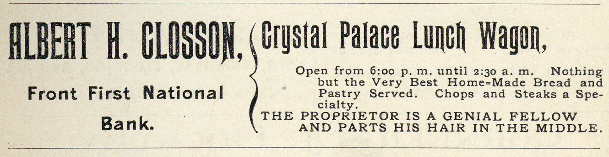 Courtesy of    The Chapman Museum   , from the 1897-98 Glens Falls Business Directory.
