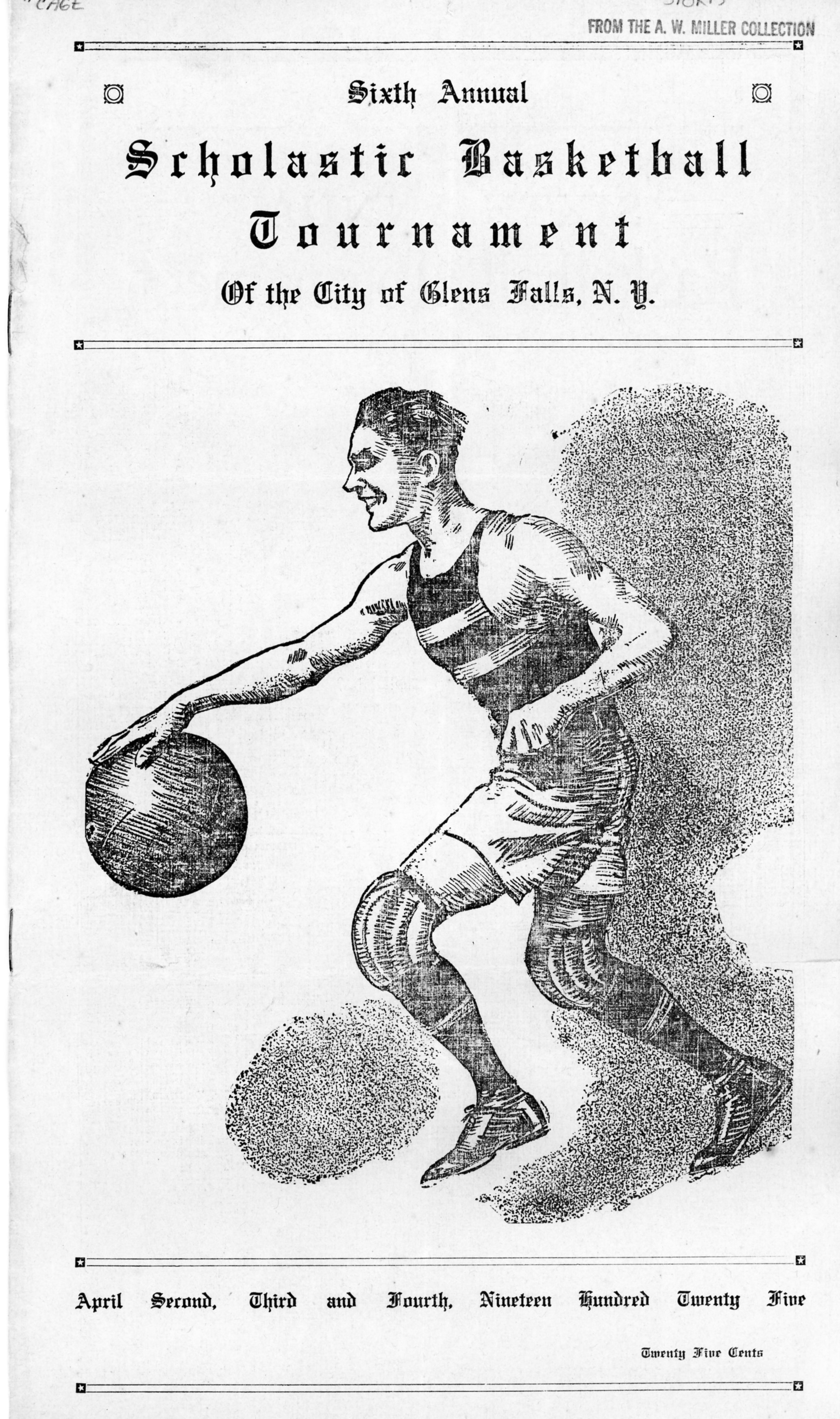 Eastern States Basketball Tournament Program Cover - 1926.   Courtesy of    The Folklife Center at Crandall Public Library   .
