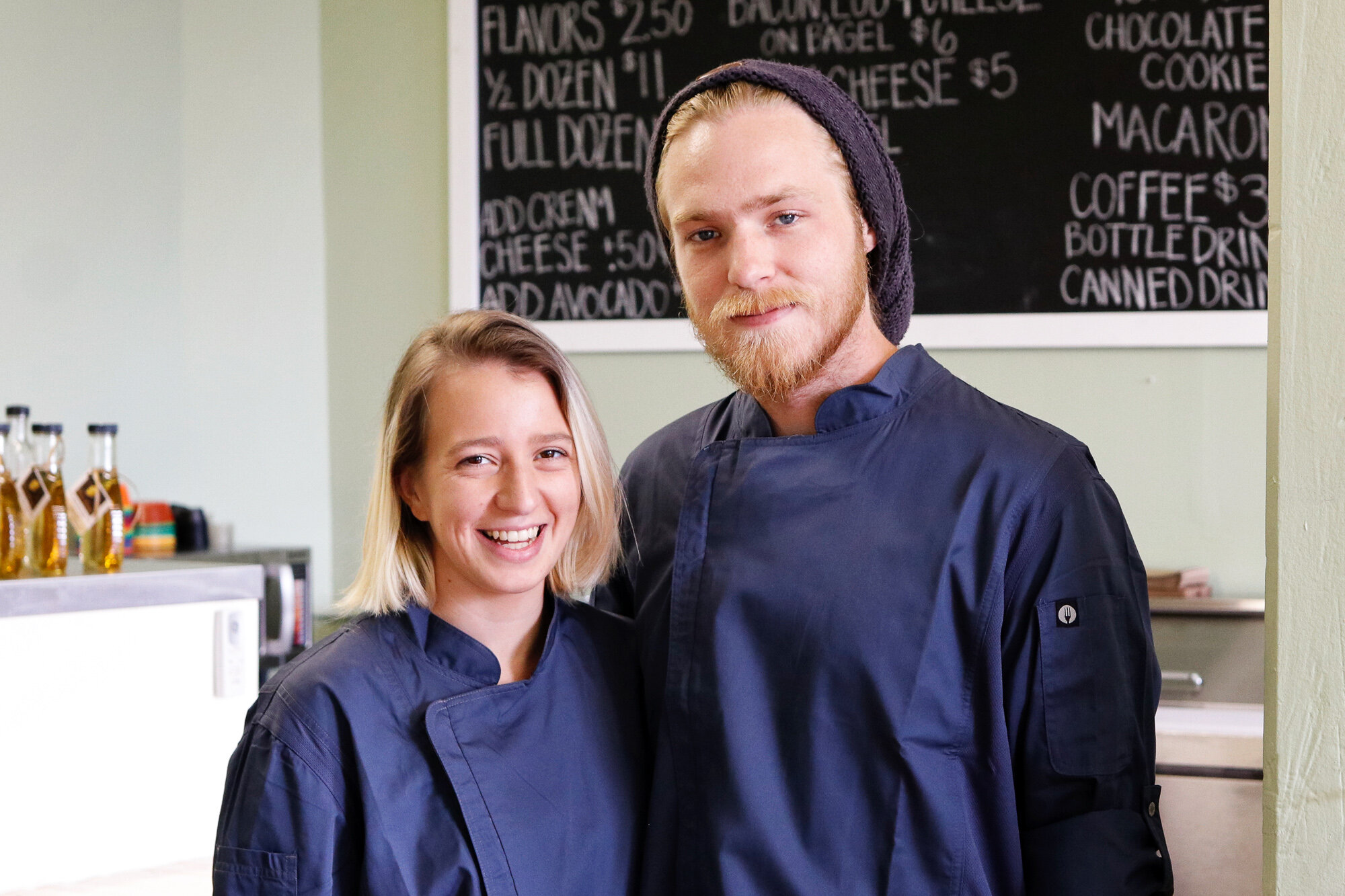 Owners Meg and Alex at Alchemy Bagel Cafe