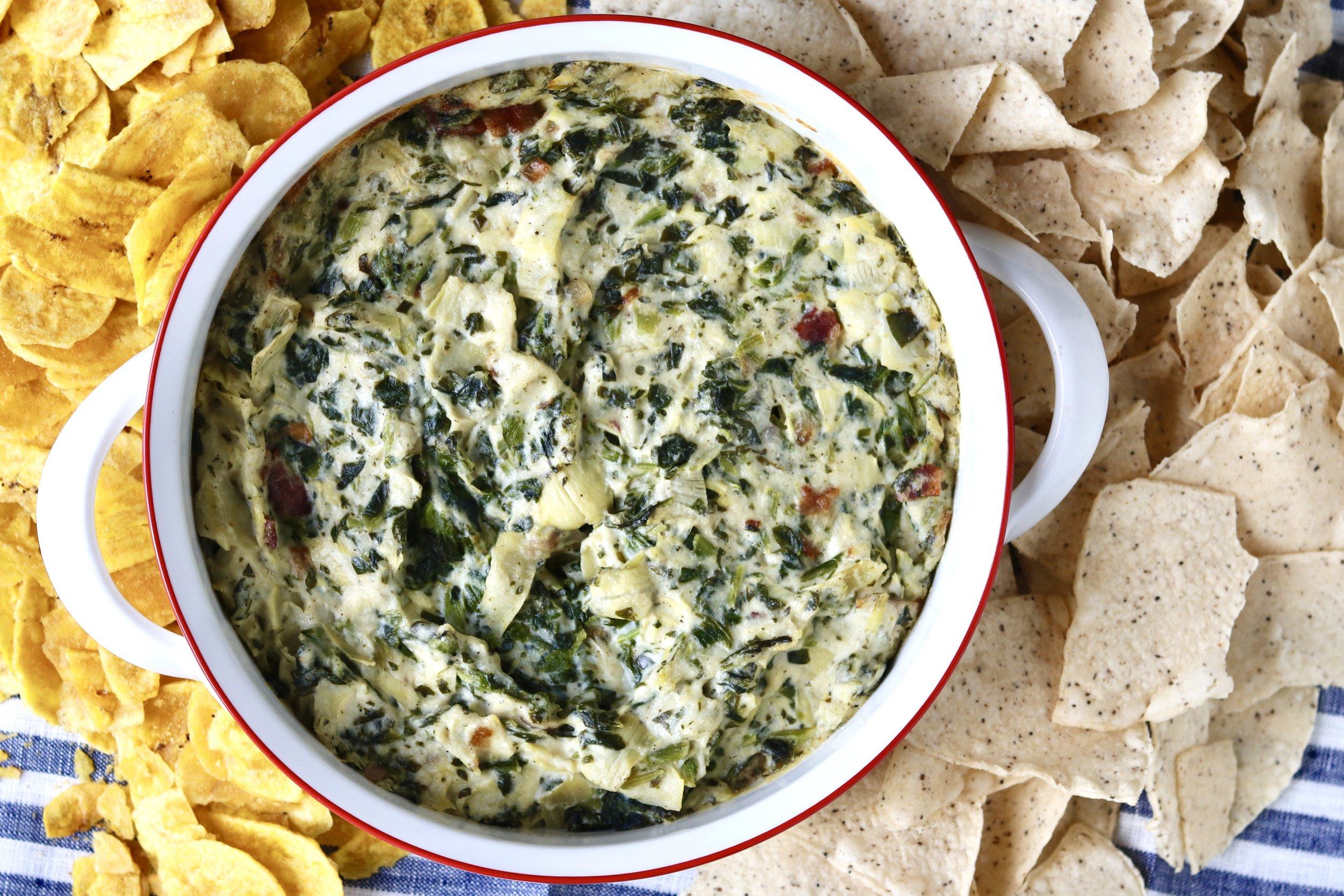 Creamy Spinach Artichoke Dip I'd Eat That Food