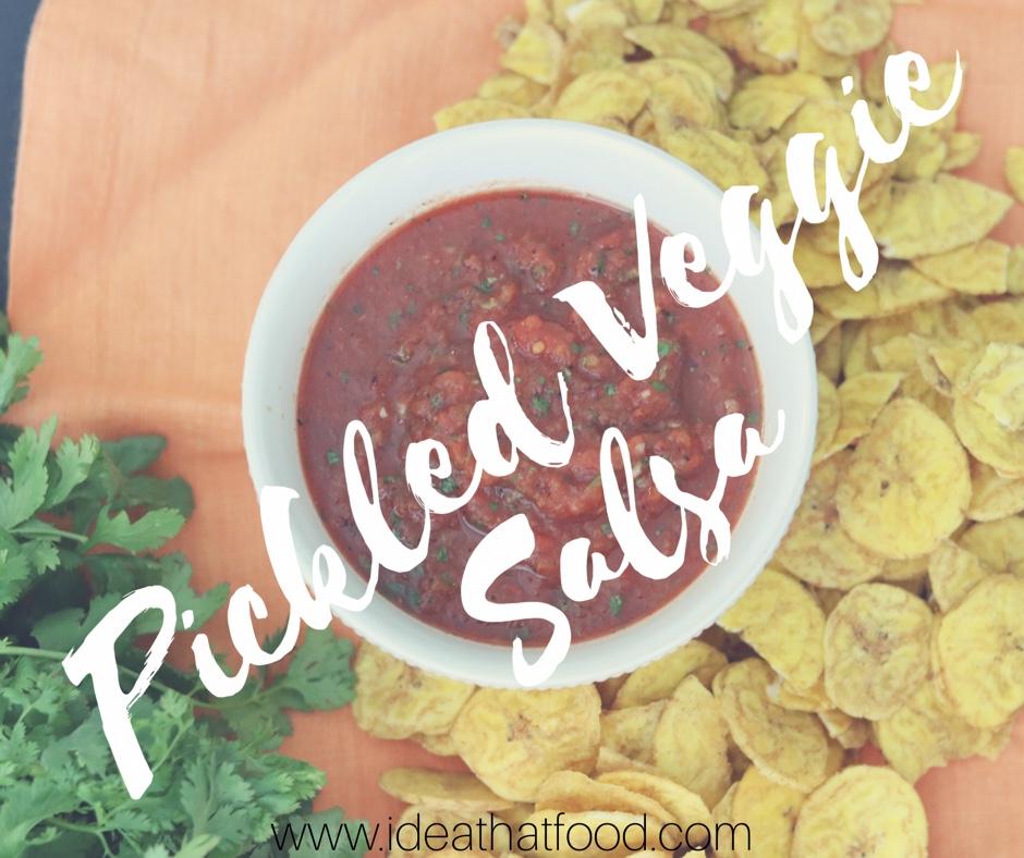 Pickled Veggie Salsa I'd Eat That Food