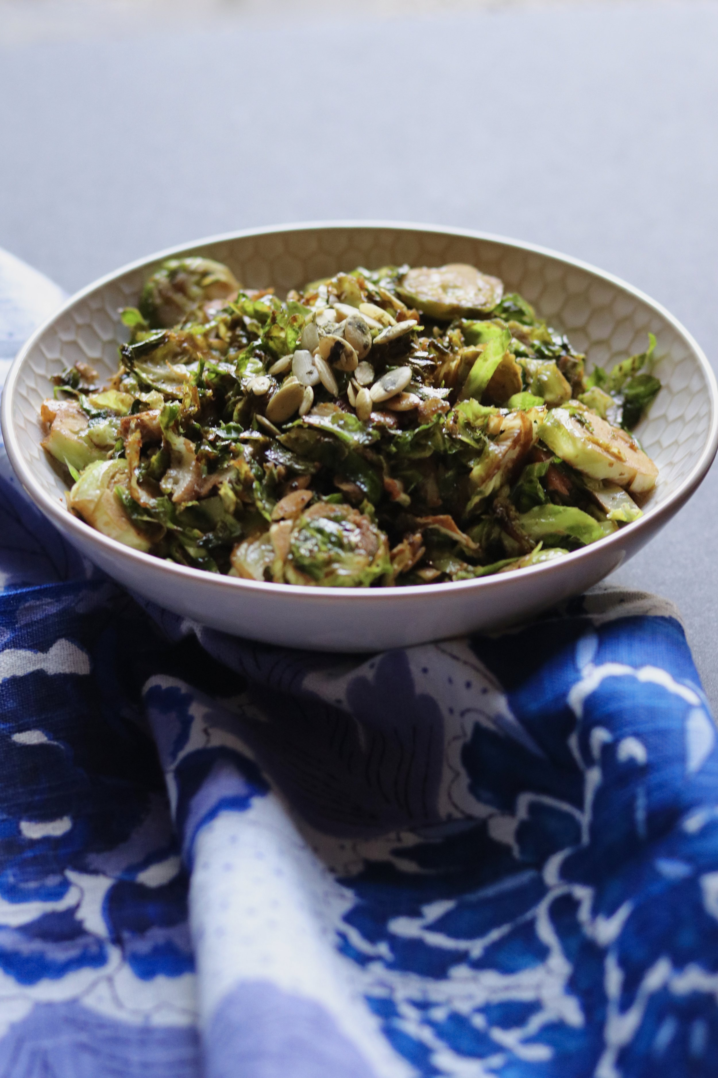 Balsamic and Brussels Sprouts with Pepitas I'd Eat That Food